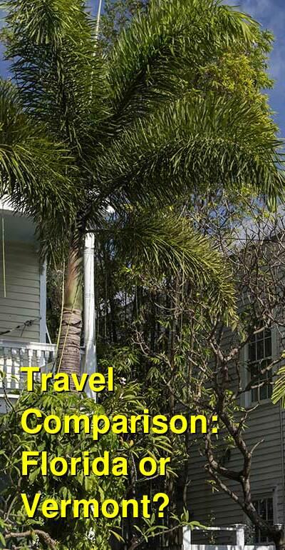 Florida vs. Vermont Travel Comparison
