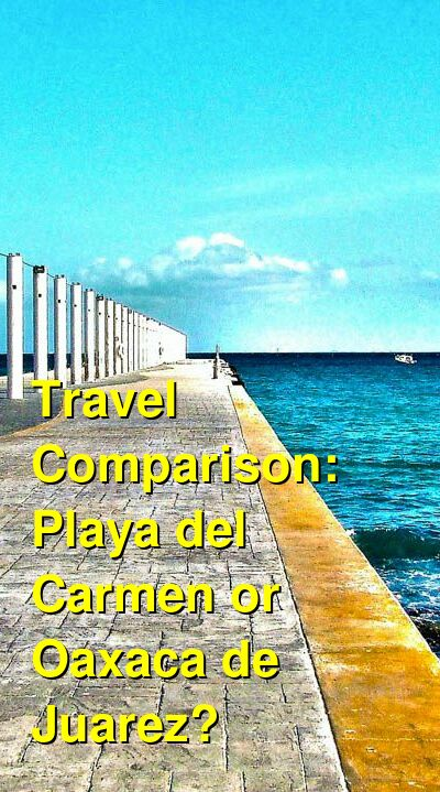 Playa del Carmen vs. Oaxaca de Juarez Travel Comparison