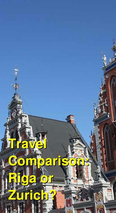Riga vs. Zurich Travel Comparison