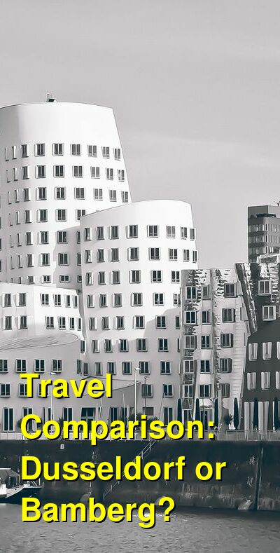 Dusseldorf vs. Bamberg Travel Comparison