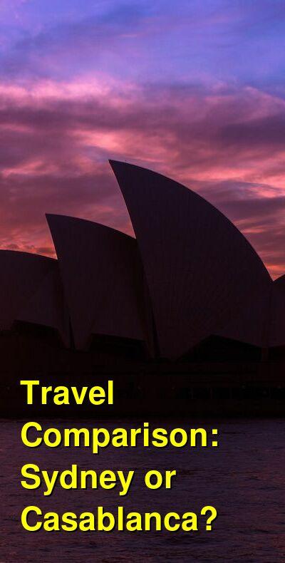 Sydney vs. Casablanca Travel Comparison