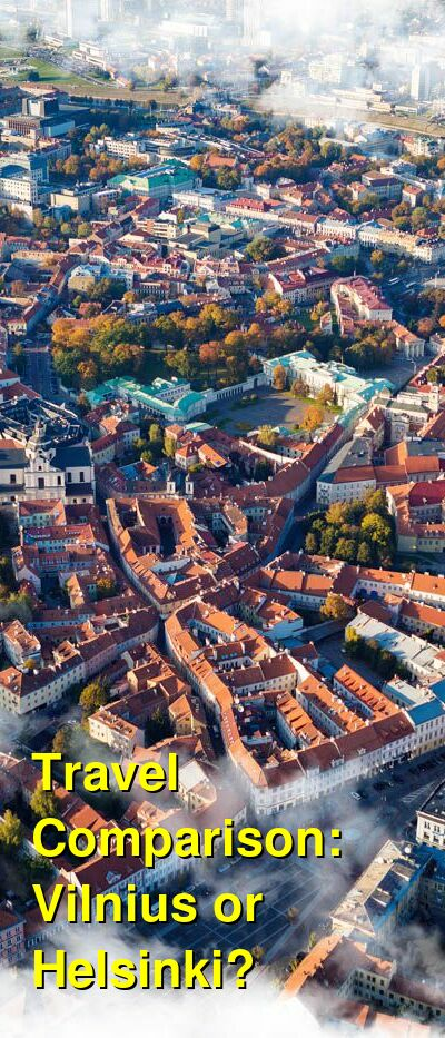 Vilnius vs. Helsinki Travel Comparison