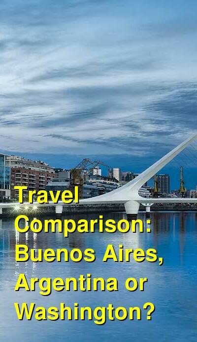 Buenos Aires, Argentina vs. Washington Travel Comparison