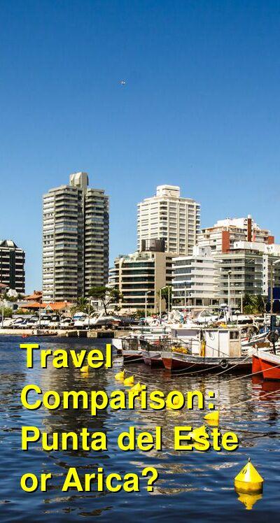 Punta del Este vs. Arica Travel Comparison