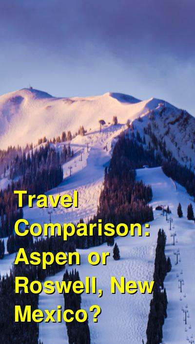 Aspen vs. Roswell, New Mexico Travel Comparison