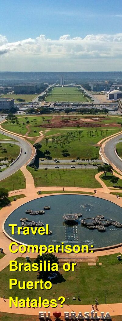 Brasilia vs. Puerto Natales Travel Comparison