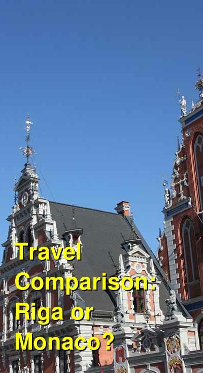 Riga vs. Monaco Travel Comparison