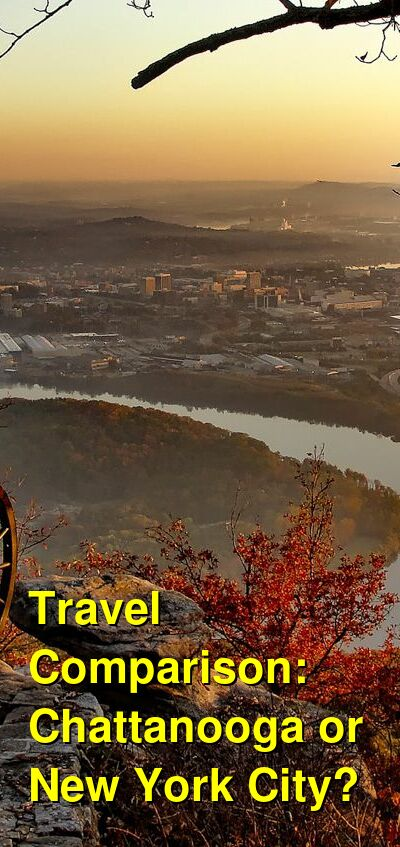 Chattanooga vs. New York City Travel Comparison