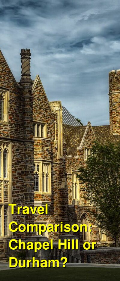 Chapel Hill vs. Durham Travel Comparison