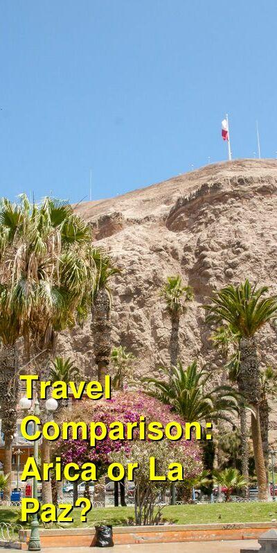 Arica vs. La Paz Travel Comparison