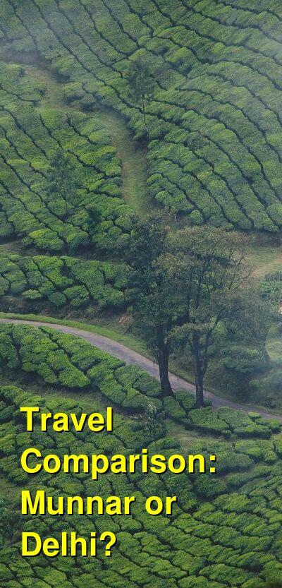 Munnar vs. Delhi Travel Comparison