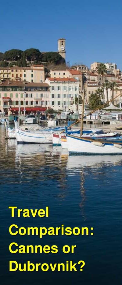 Cannes vs. Dubrovnik Travel Comparison