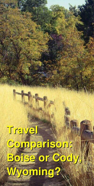 Boise vs. Cody, Wyoming Travel Comparison