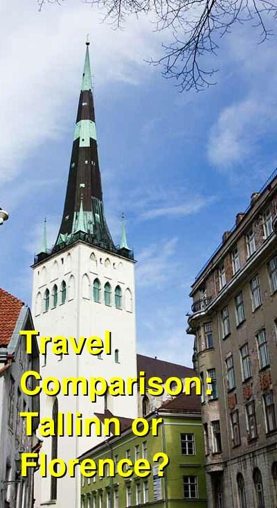 Tallinn vs. Florence Travel Comparison