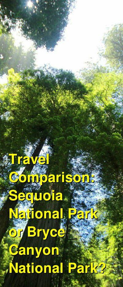 Sequoia National Park vs. Bryce Canyon National Park Travel Comparison
