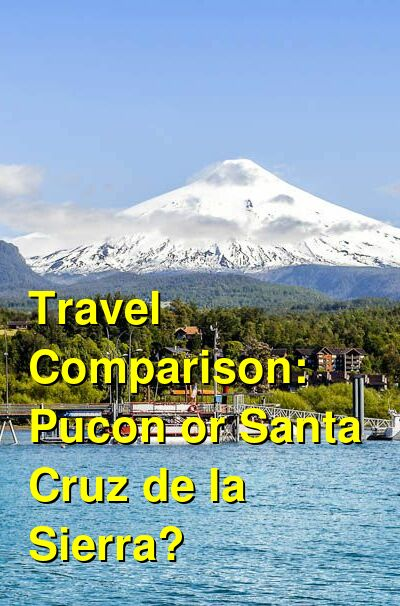 Pucon vs. Santa Cruz de la Sierra Travel Comparison