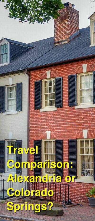 Alexandria vs. Colorado Springs Travel Comparison