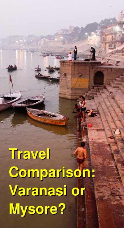 Varanasi vs. Mysore Travel Comparison