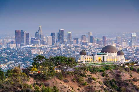 The Griffith Observatory overlooking Los Angeles