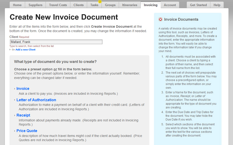 Easy Invoicing Software for Travel Agents | BYT Agent